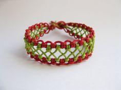 A 9 page macrame bracelet pattern / macrame bracelet tutorial / macrame bracelet PDF pattern. Clear step by step instructions and photos by knotonlyknots.
