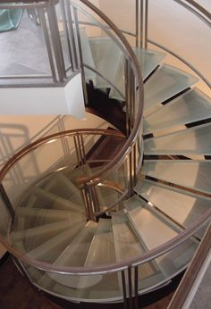 glass spiral staircase!