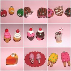 Clay ice cream and goodies out of polymer clay :D