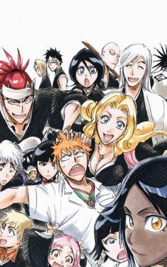 when the whole squad is here Bleach Fanart, Bleach Manga, Bleach Anime Art, Shinigami, Bleach Characters, Anime Characters, Kon Bleach, Bleach Meme, Bleach Renji