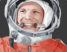 "Check out new work on my @Behance portfolio: ""Гагарин"" http://be.net/gallery/31105107/gagarin"