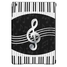 Curved Piano keys and treble clef iPad Air Case