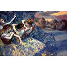 Buyenlarge 'Four Dancers' by Edward Degas Painting Print