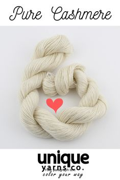 This lace weight cashmere yarn is perfect if you are a yarn dyer looking for special base yarn. #uniqueyarnsco #cashmereyarn #cashmerewool