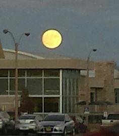 Moon above CSU campus!