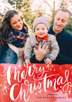 Merry Christmas Magic scripted  Holiday Card by Alethea and Ruth