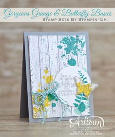 nice people STAMP!: Gorgeous Grunge & Butterfly Basics Card by Canadian Stampin' Up! Demonstrator Allison Okamitsu. www.NicePeopleStamp.com