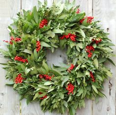 Red Berry Bay Wreath by Circle Home and Design