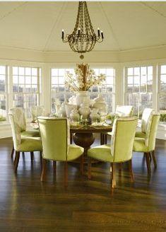 Salle à manger - Dining room - Blanc - Vert - White - Green