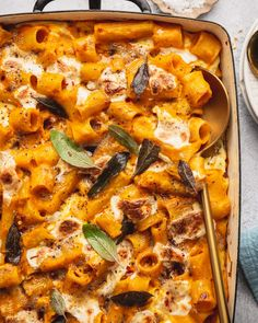 This Vegetarian Baked Pumpkin Pasta with Crispy Sage & Ricotta is the ultimate comfort fall food when you are craving something cheesy and carb-y. #vegetarianrecipe #easyrecipe #pastarecipe Pumpkin Sauce, Pumpkin Pasta, Baked Pumpkin, Vegetarian Thanksgiving Main Dish, Vegan Pasta Bake, Fall Recipes, Dinner Recipes, Clean Recipes, Fall Dishes