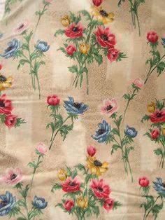 Anemone flowers Barkcloth fabric
