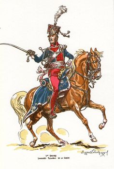French Imperial Guard Polish Lancers of the Guard