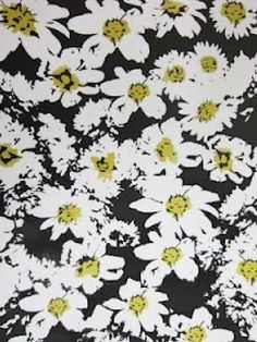 Daisy pattern wallpaper - photo#20