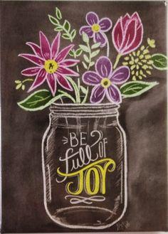 Be full of Joy Magnet - Chalk Art İdeas in 2019 Summer Chalkboard Art, Chalkboard Doodles, Chalkboard Art Quotes, Chalkboard Decor, Chalkboard Drawings, Chalkboard Lettering, Chalkboard Designs, Chalk Drawings, Blackboard Art