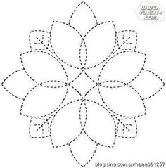 Olympus Sashiko Thread - ORCHID # 24 - Skein - Japanese Embroidery & Quilting - NEW color for 2017 - Embroidery Design Guide Hand Quilting Designs, Machine Quilting Patterns, Quilting Stencils, Quilting Templates, Quilt Patterns, Stitch Patterns, Paper Templates, Sashiko Embroidery, Paper Embroidery