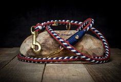 **Paracord Hundeleine Ankerliebe von Hanseschnute - passend zum Halsband Ankerliebe**  _Mit viel Liebe zum Detail werden unsere Halsbänder, Leinen und Accessoires in aufwendiger Handarbeit...