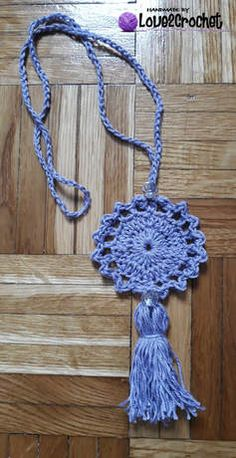 Crochet pendant necklace-free pattern