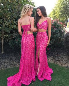 "1,003 Likes, 16 Comments - Girli Girl Prom & Pageant (@girligirl_boutique) on Instagram: ""Two Pretty In Pink  #girligirlboutique #girligirl #girligirlprom2k18 #crop #lace #jovani"""