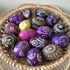 Traditional Lithuanian Easter eggs   I have always admired these and similar eggs. The intricate workmanship, the beautiful designs and colors. The process is interesting too...