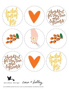 thanksgiving printables for your leftover boxes! // coco+kelley and @maraboudesign