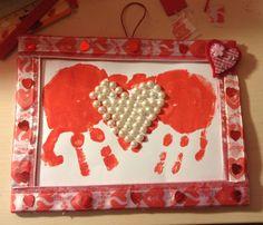 Idea per san valentino e festa del papà: quadretto con manine d'amore