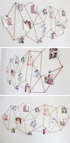 DIY Geometric String Photo Collage