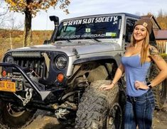 Women who love Jeeps make up a unique subculture within the culture of Jeep enthusiasts that are part of a larger group or culture of enthusiasts. These women are like-minded, embrace new people and Trucks And Girls, Car Girls, Big Trucks, Pickup Trucks, Jeep Wrangler Girl, Jeep Wrangler Unlimited, Jeep 4x4, Jeep Truck, Bugatti