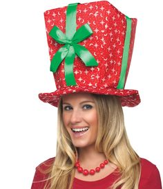Christmas Present Hat - Santa Suits & Costumes - by Fun World Costumes