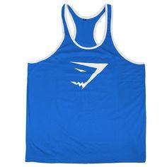 Gyúrós edző trikó férfi kék fehér Edzéshez,fitneszhez, testépítéshez! Már 2 db-tól INGYENES szállítás! Többféle színben és méretben! Csak NÁLUNK elérhető