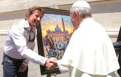 'Norman Rockwell of Harley-Davidson' paints for Pope