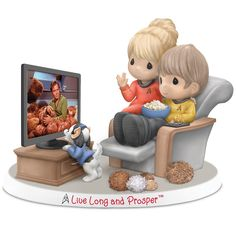 Precious Moments Star Trek Live Long And Prosper Bisque Porcelain Figurine by The Hamilton Collection  OMG I love it!!!