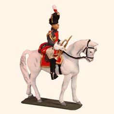 E 119 Grenadier a Cheval Trumpeter 30mm Willie Mounted  Napoleonic Wars 1803 to…