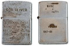 Zippo lighters from U.S. troops fighting in Vietnam give a unique insight into war life | Daily Mail Online