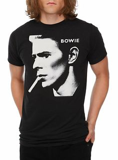 David Bowie Cig Slim-Fit T-Shirt | Hot Topic