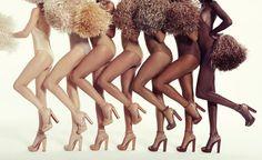 """Das Modell """"Cherrysandal"""" gibt's in sieben verschiedenen Nudetönen."""