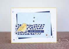 Use the project pieces from the Color Me Happy project kit to make an alternate card! I colored the bird using the Stampin' Blends from @Stampinup