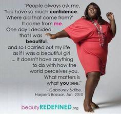 Beautiful, confidence