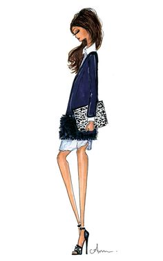 Fashion Illustration Print J.Crew Fall by anumt on Etsy