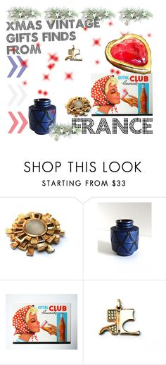 """Xmas vintage gifts finds from France"" by lefrenchbazaar ❤ liked on Polyvore featuring interior, interiors, interior design, home, home decor, interior decorating, Paco Rabanne, Courrèges, Yves Saint Laurent and vintage"