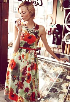 Dress from Anthropologie.