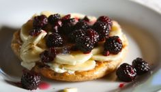 Banana Berry Goat Cheese French Toast - healthyadjustments.ca | Recipes
