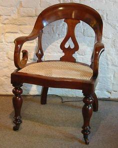 A Mahogany Back-splat Desk Armchair Desk Chair, Armchair, Victorian, Antiques, Furniture, Home Decor, Sofa Chair, Antiquities, Single Sofa