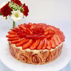 Strawberry Yoghurt Torte - The recipe for this beautiful light torte is now on my website at http://lusciouscakesandbakes.com/recipe/strawberry-yoghurt-torte/