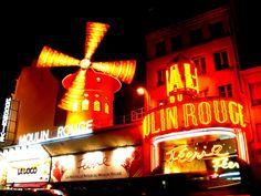 The real Moulin Rouge, Paris, France Paris Wallpaper, World Wallpaper, Versailles, Hotel Montmartre, Le Moulin Rouge Paris, Midnight In Paris, World Of Wanderlust, I Love Paris, Crazy Horse