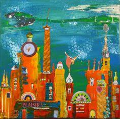 Le blog d'Azoline... très jolies créations : la Ville peinte par Agnès