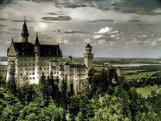 Neuschwanstein Castle in Munich, Germany...the inspiration for Disneyland's Sleeping Beauty Castle...it definitely inspires me!