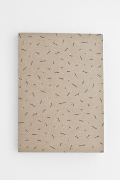 Brown carton minimalist pattern notebook