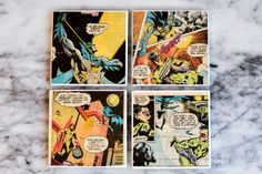 p.s.♡: diy: comic book coasters - with modge podge