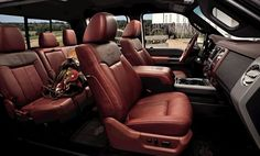 New F-150 King Ranch- how come no one has ever told me about a truck with saddle leather seats!
