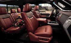 Interior of a 2012 Ford Super Duty King Ranch Diesel - my dream vehicle. Ford Interior, Custom Car Interior, Truck Interior, King Ranch Truck, Ford F150 King Ranch, Lifted Trucks, Ford Trucks, Big Trucks, King Ranch Interior